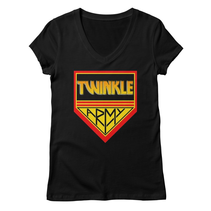 Twinkle Army Women's Regular V-Neck by Twinkle's Artist Shop
