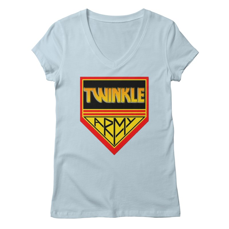 Twinkle Army Women's Regular V-Neck by Twinkle's Artist Shop