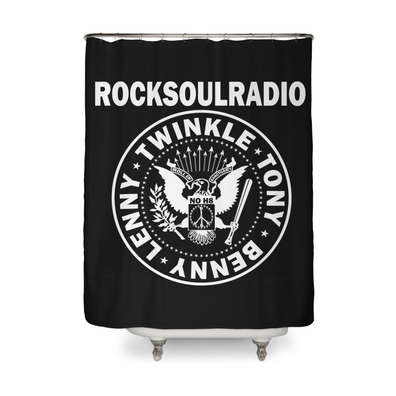 oversize full front logo Home Shower Curtain by Twinkle's Artist Shop