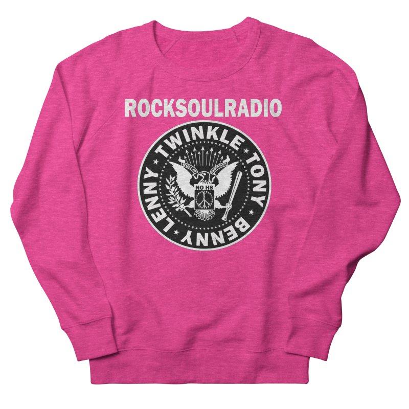 oversize full front logo Women's French Terry Sweatshirt by Twinkle's Artist Shop