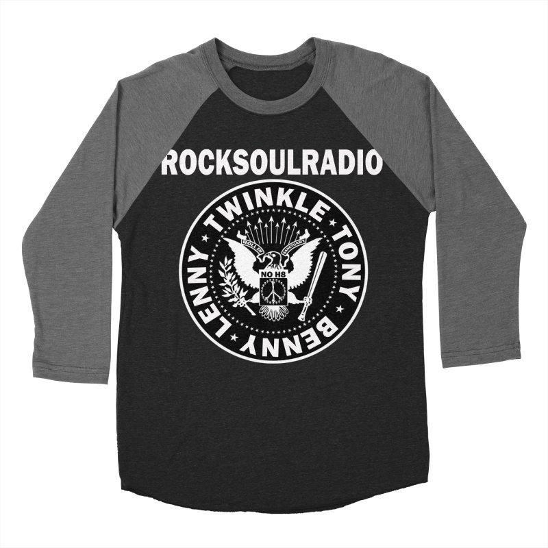 oversize full front logo Men's Baseball Triblend T-Shirt by Twinkle's Artist Shop