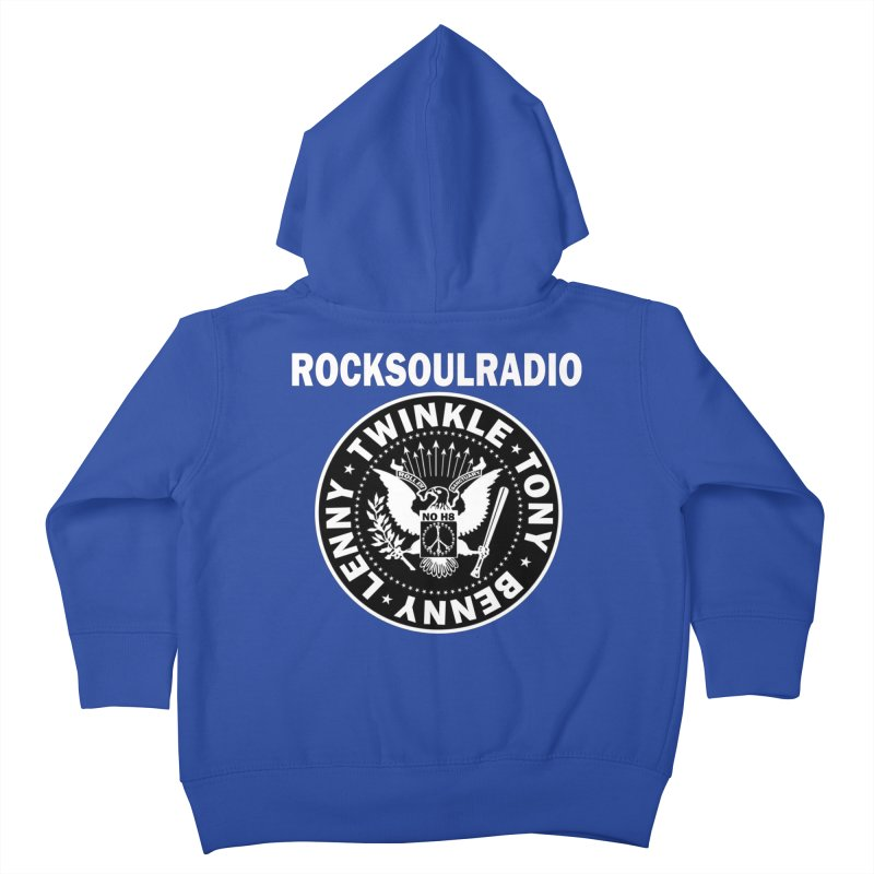 oversize full front logo Kids Toddler Zip-Up Hoody by Twinkle's Artist Shop