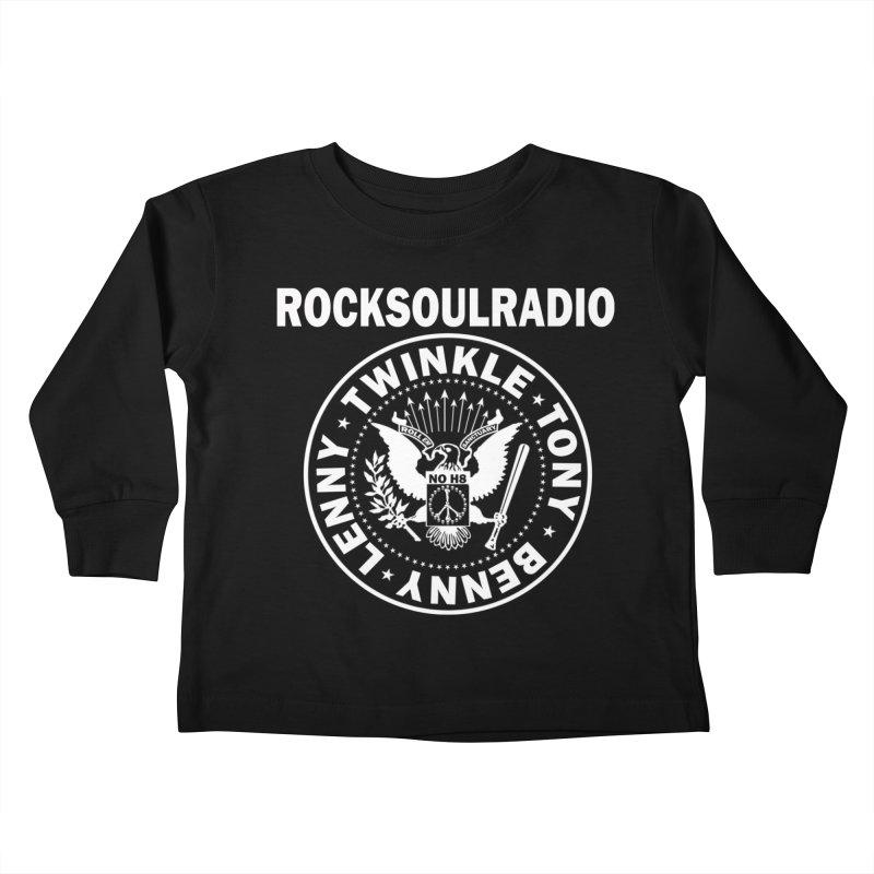 oversize full front logo Kids Toddler Longsleeve T-Shirt by Twinkle's Artist Shop