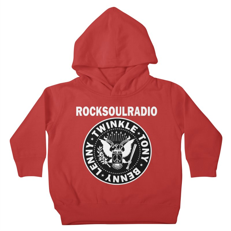 oversize full front logo Kids Toddler Pullover Hoody by Twinkle's Artist Shop