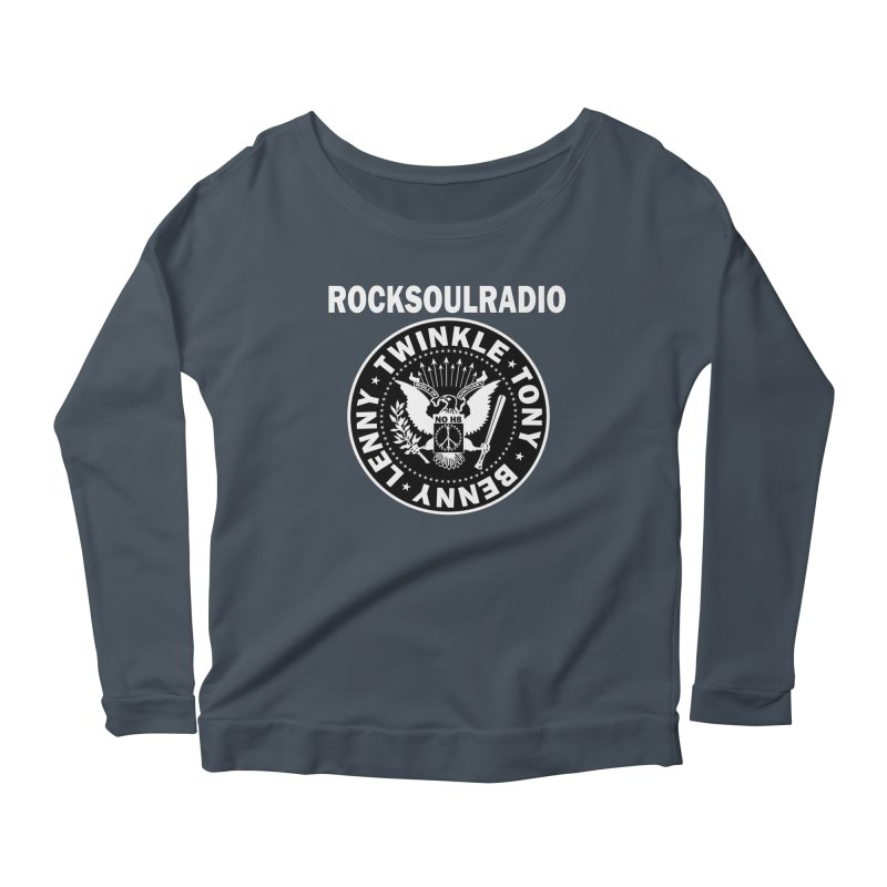 oversize full front logo Women's Scoop Neck Longsleeve T-Shirt by Twinkle's Artist Shop