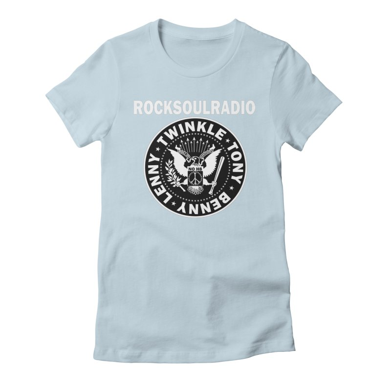 oversize full front logo Women's Fitted T-Shirt by Twinkle's Artist Shop