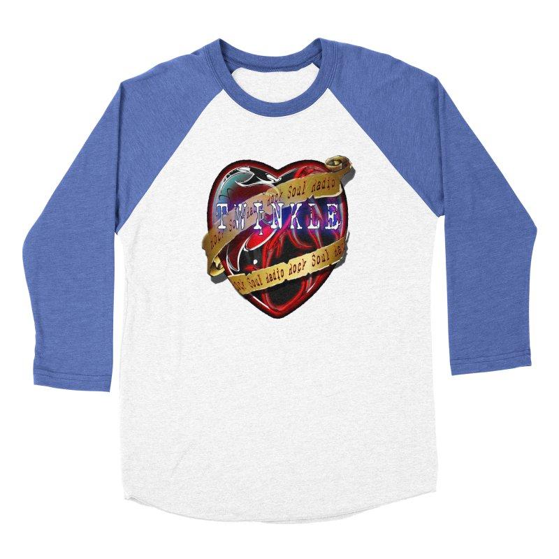 Twinkle and RSR love logo Men's Baseball Triblend Longsleeve T-Shirt by Twinkle's Artist Shop