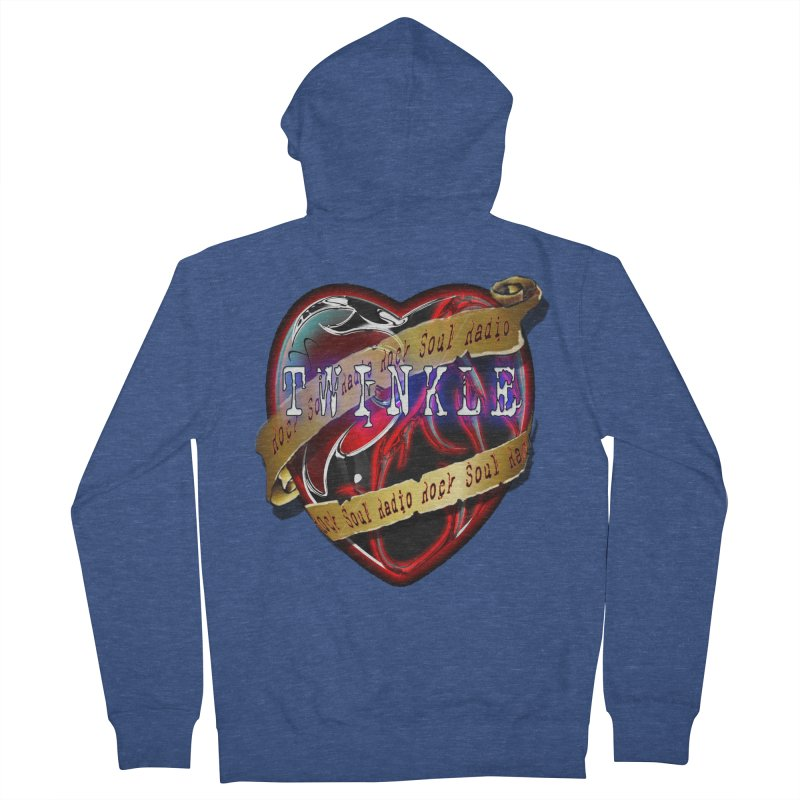 Twinkle and RSR love logo Women's French Terry Zip-Up Hoody by Twinkle's Artist Shop