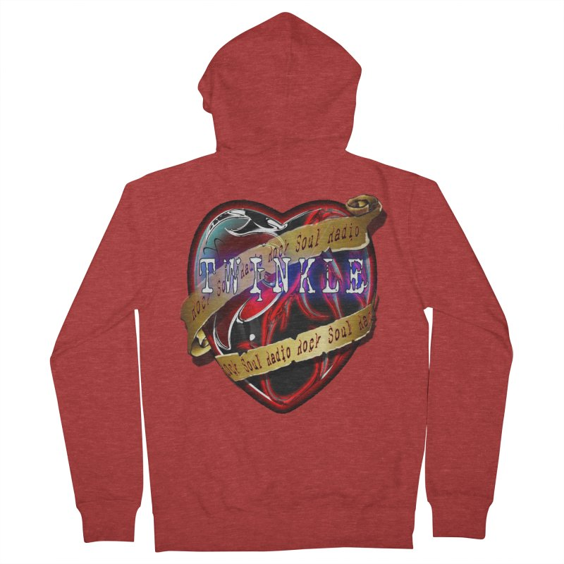 Twinkle and RSR love logo Men's French Terry Zip-Up Hoody by Twinkle's Artist Shop