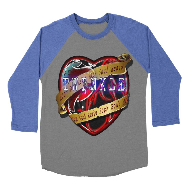 Twinkle and RSR love logo Men's Baseball Triblend Longsleeve T-Shirt by Twinkle's Artist Shop