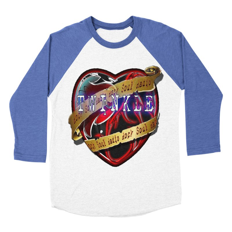 Twinkle and RSR love logo Men's Baseball Triblend T-Shirt by Twinkle's Artist Shop