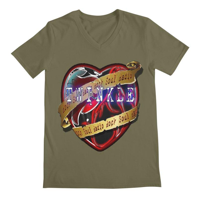Twinkle and RSR love logo Men's Regular V-Neck by Twinkle's Artist Shop