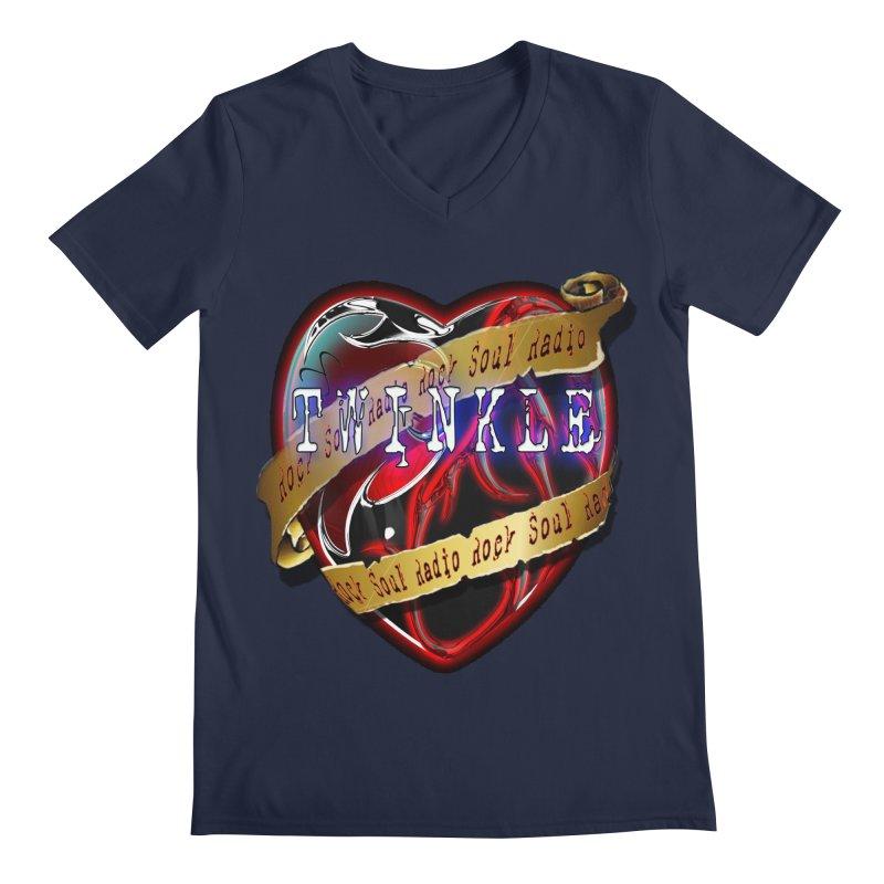 Twinkle and RSR love logo Men's V-Neck by Twinkle's Artist Shop