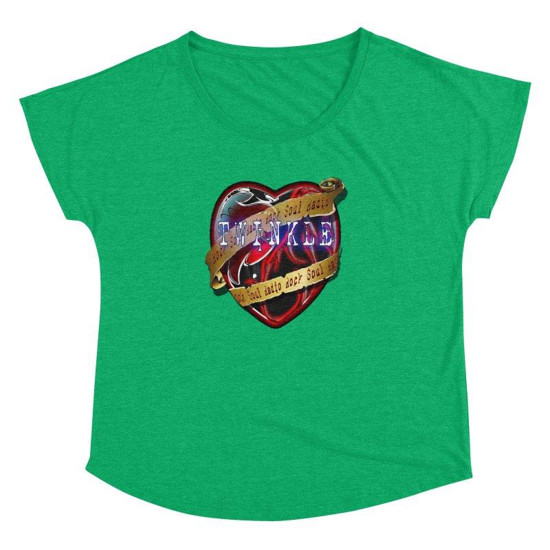 Twinkle and RSR love logo Women's Dolman Scoop Neck by Twinkle's Artist Shop