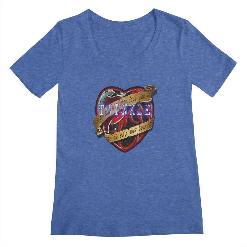 Twinkle and RSR love logo Women's Regular Scoop Neck by Twinkle's Artist Shop