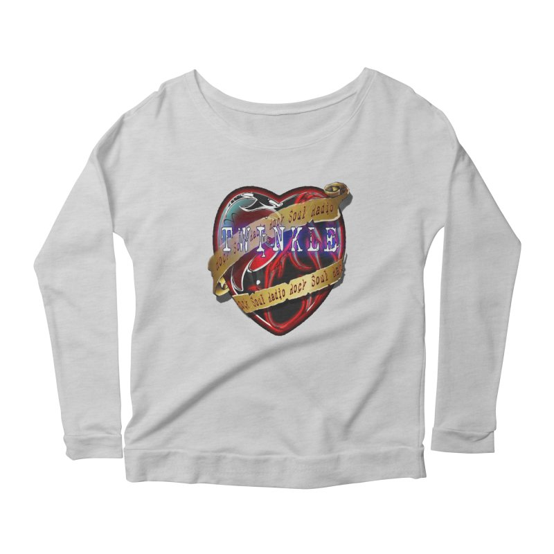 Twinkle and RSR love logo Women's Scoop Neck Longsleeve T-Shirt by Twinkle's Artist Shop