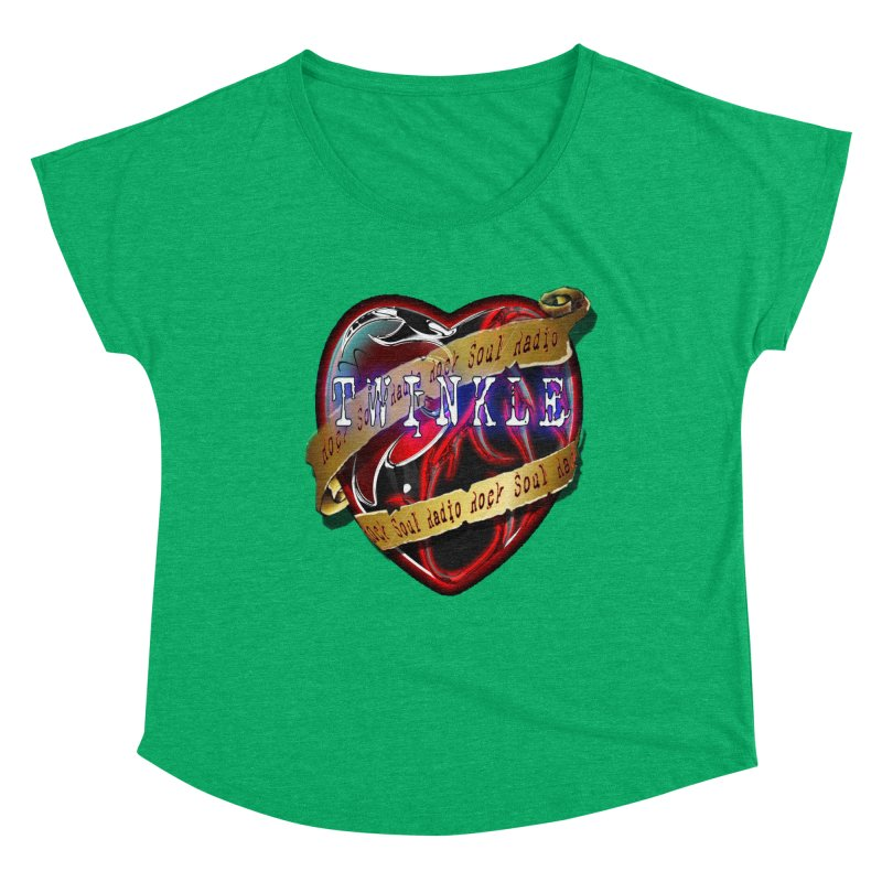Twinkle and RSR love logo Women's Dolman Scoop Neck by Twinkle's Artist Shop