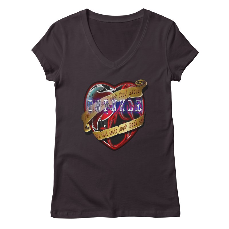 Twinkle and RSR love logo Women's V-Neck by Twinkle's Artist Shop
