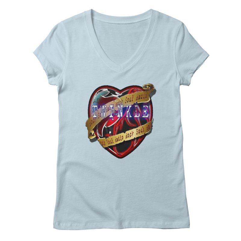 Twinkle and RSR love logo Women's Regular V-Neck by Twinkle's Artist Shop