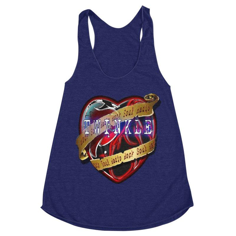 Twinkle and RSR love logo Women's Racerback Triblend Tank by Twinkle's Artist Shop