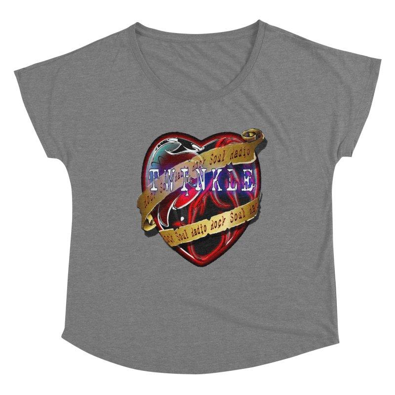Twinkle and RSR love logo Women's Scoop Neck by Twinkle's Artist Shop