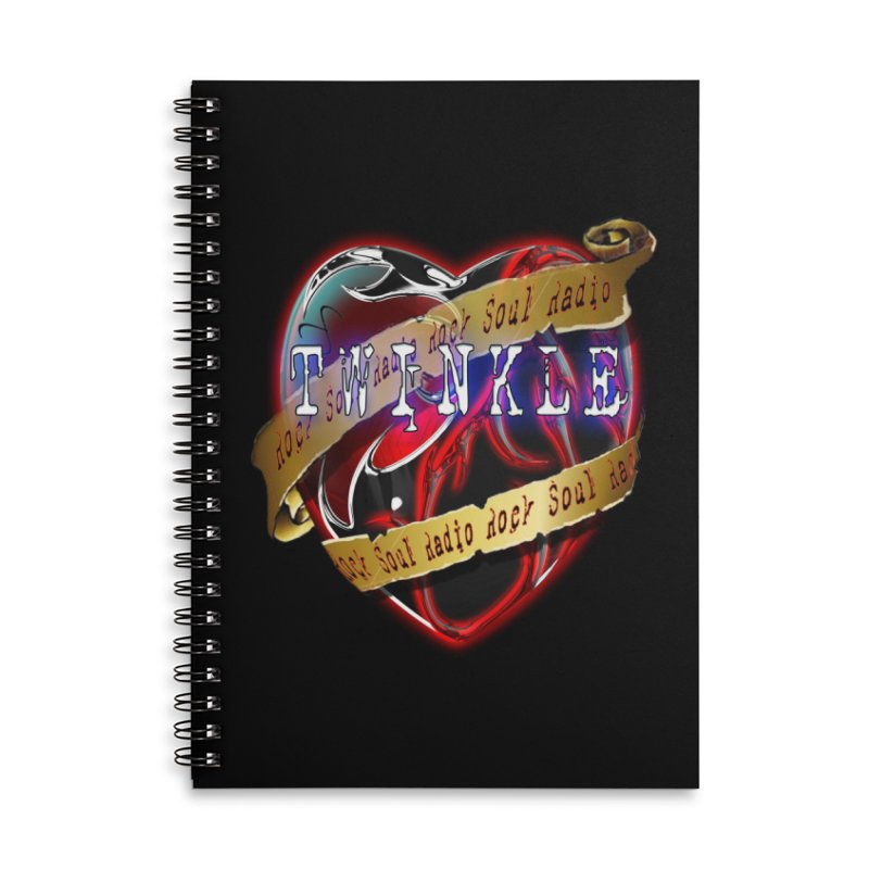 Twinkle and RSR love logo Accessories Lined Spiral Notebook by Twinkle's Artist Shop