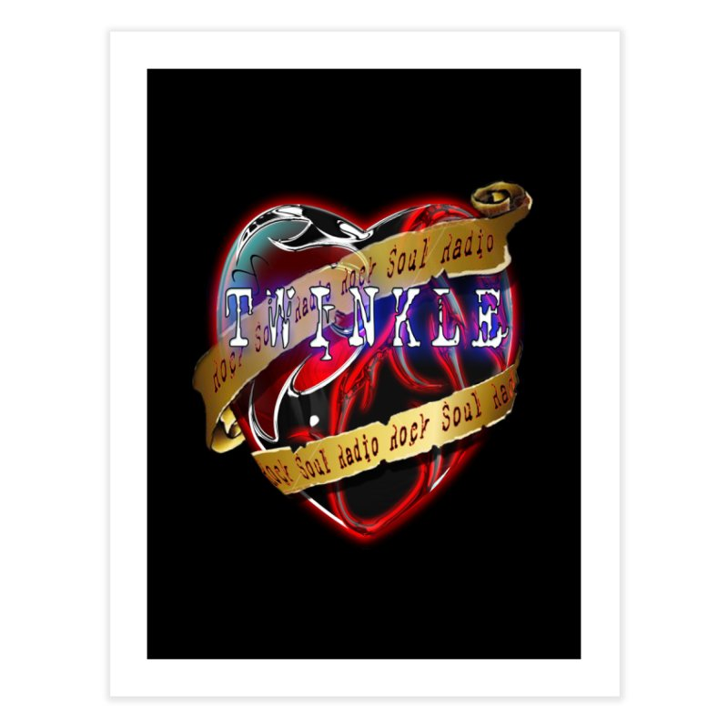 Twinkle and RSR love logo Home Fine Art Print by Twinkle's Artist Shop