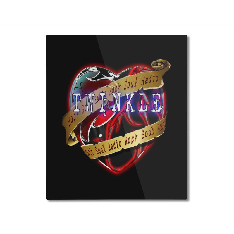 Twinkle and RSR love logo Home Mounted Aluminum Print by Twinkle's Artist Shop