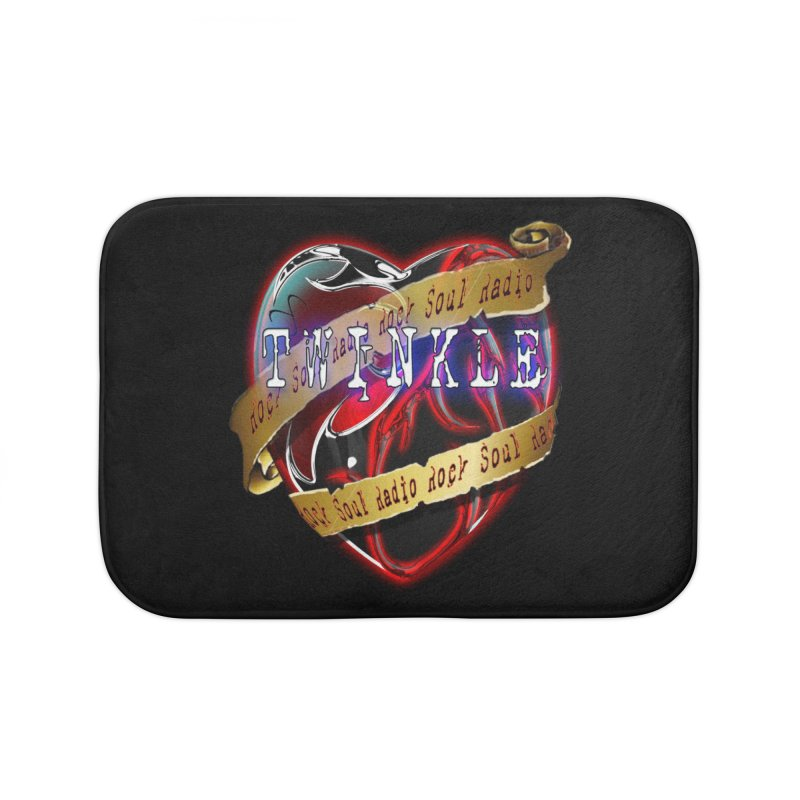 Twinkle and RSR love logo Home Bath Mat by Twinkle's Artist Shop