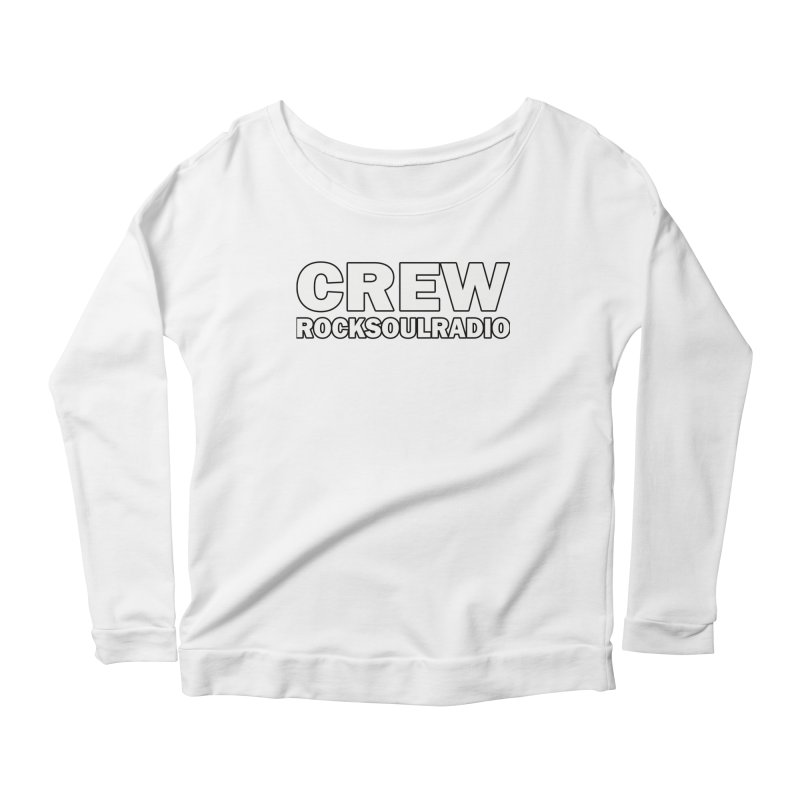 RSR CREW SHIRT Women's Scoop Neck Longsleeve T-Shirt by Twinkle's Artist Shop