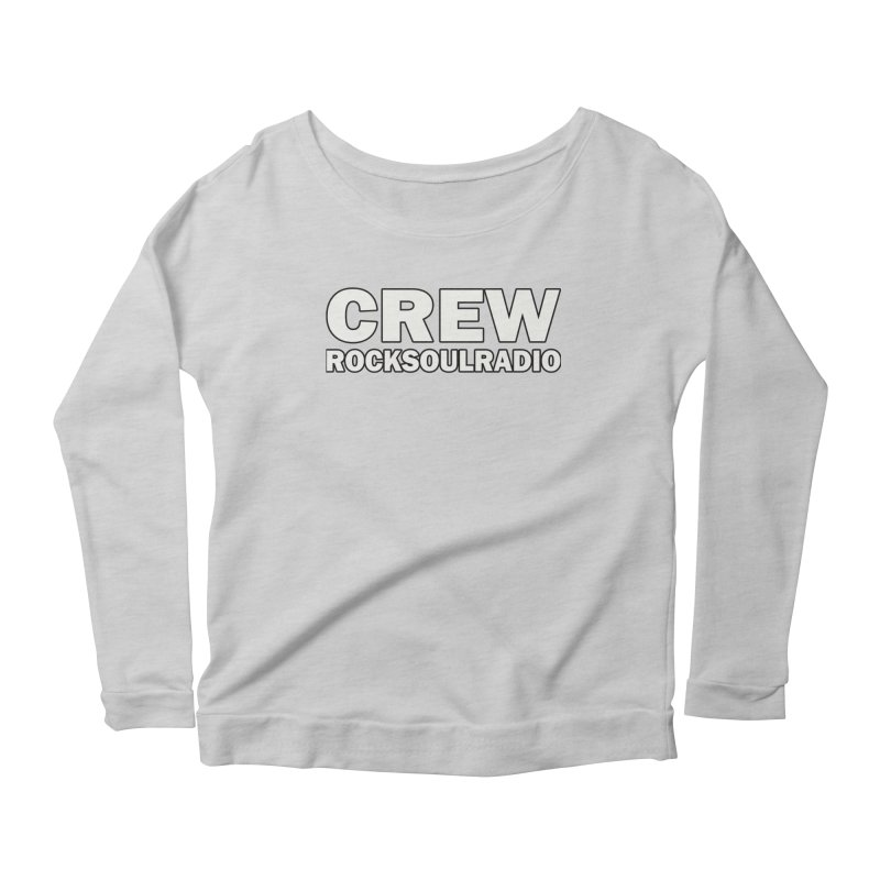 RSR CREW SHIRT Women's Scoop Neck Longsleeve T-Shirt by Twinkle's Artist Shop