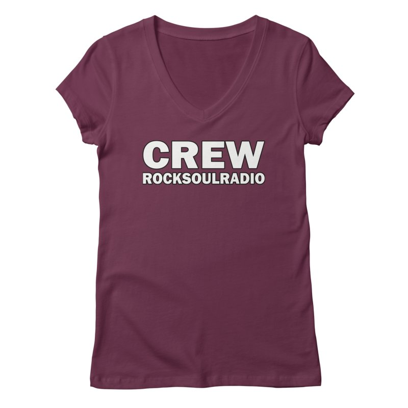 RSR CREW SHIRT Women's Regular V-Neck by Twinkle's Artist Shop