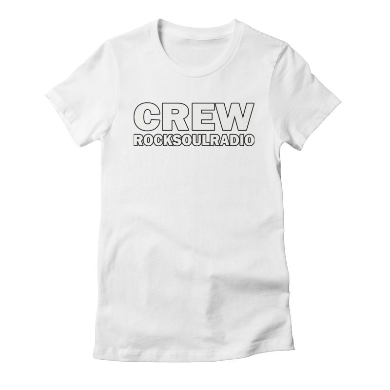 RSR CREW SHIRT Women's Fitted T-Shirt by Twinkle's Artist Shop
