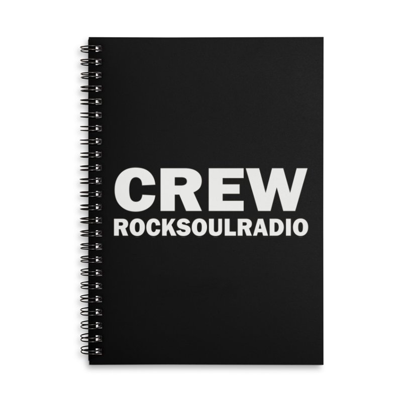 RSR CREW SHIRT Accessories Lined Spiral Notebook by Twinkle's Artist Shop