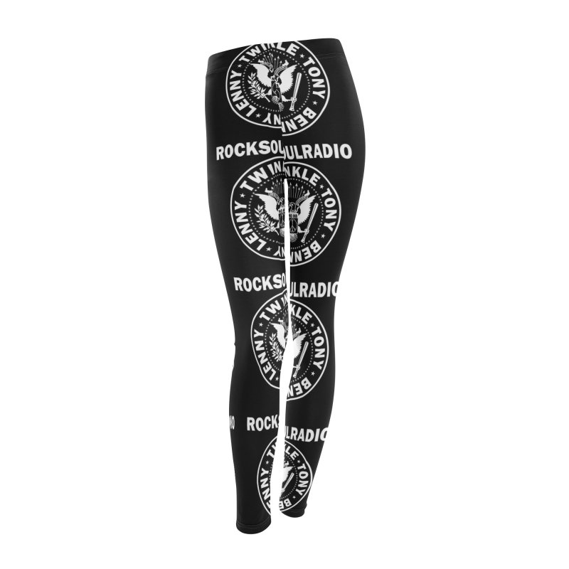 logo leggings black Women's Leggings Bottoms by Twinkle's Artist Shop
