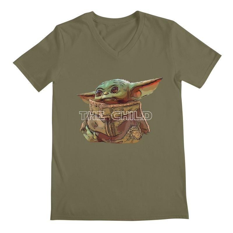Baby Yoda 3 Men's V-Neck by TwistedPhillyPodcast's Shop