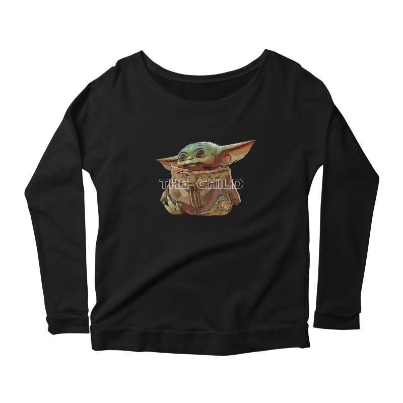 Baby Yoda 3 Women's Scoop Neck Longsleeve T-Shirt by TwistedPhillyPodcast's Shop