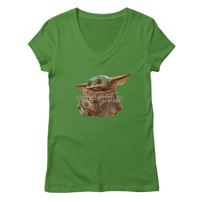 Baby Yoda 3 Women's Regular V-Neck by TwistedPhillyPodcast's Shop