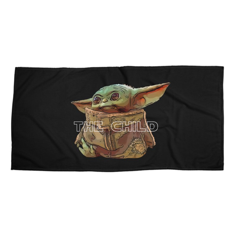 Baby Yoda 3 Accessories Beach Towel by TwistedPhillyPodcast's Shop