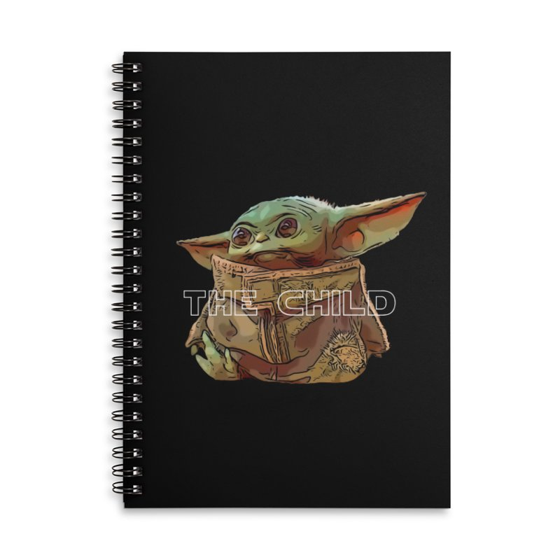 Baby Yoda 3 Accessories Lined Spiral Notebook by TwistedPhillyPodcast's Shop