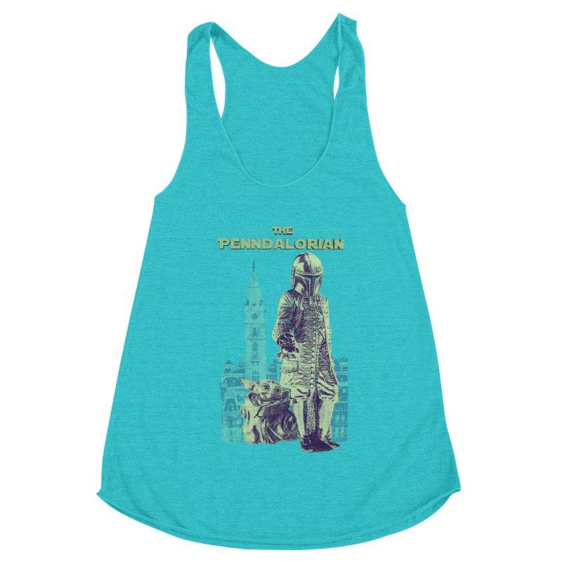 William Penn Baby Yoda Women's Racerback Triblend Tank by TwistedPhillyPodcast's Shop