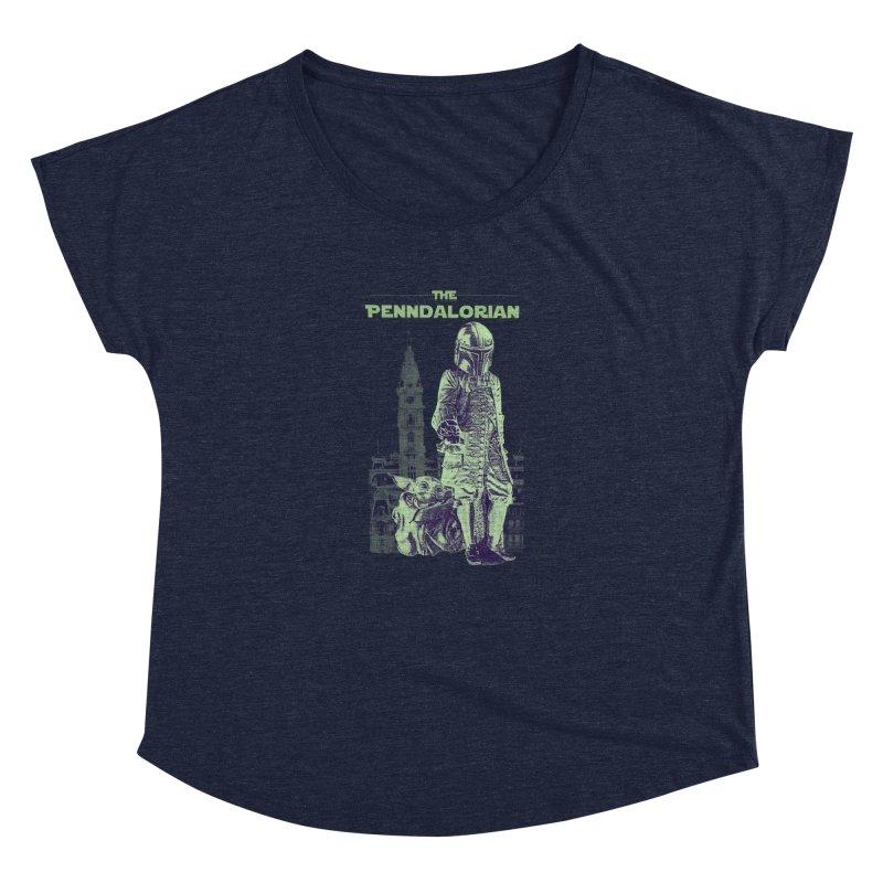 William Penn Baby Yoda Women's Dolman Scoop Neck by TwistedPhillyPodcast's Shop