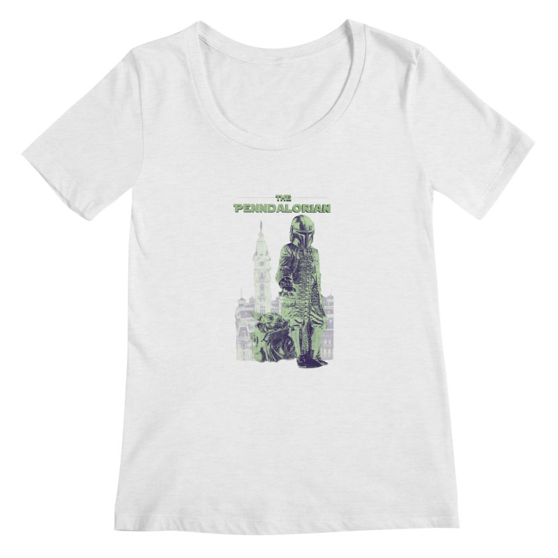 William Penn Baby Yoda Women's Scoop Neck by TwistedPhillyPodcast's Shop