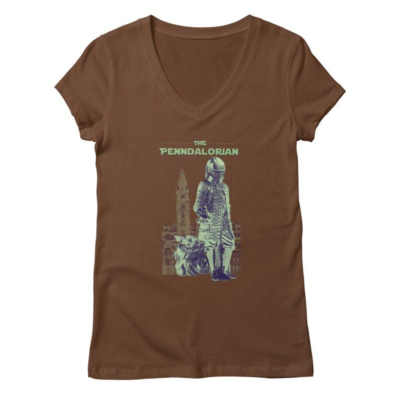 William Penn Baby Yoda Women's Regular V-Neck by TwistedPhillyPodcast's Shop