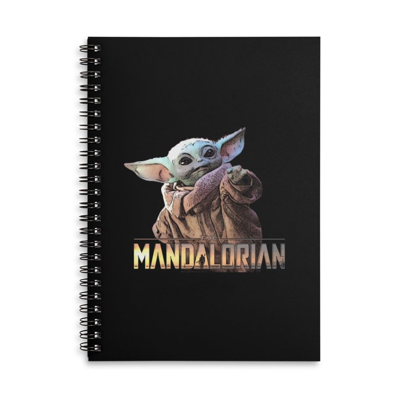 Baby Yoda 2 Accessories Lined Spiral Notebook by TwistedPhillyPodcast's Shop
