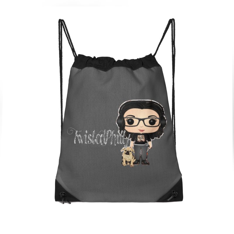 TwistedPhilly Mini Me Accessories Drawstring Bag Bag by TwistedPhillyPodcast's Shop