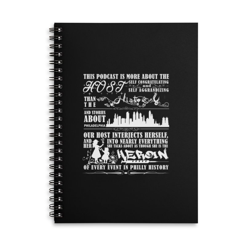 The Bad Review Accessories Lined Spiral Notebook by TwistedPhillyPodcast's Shop
