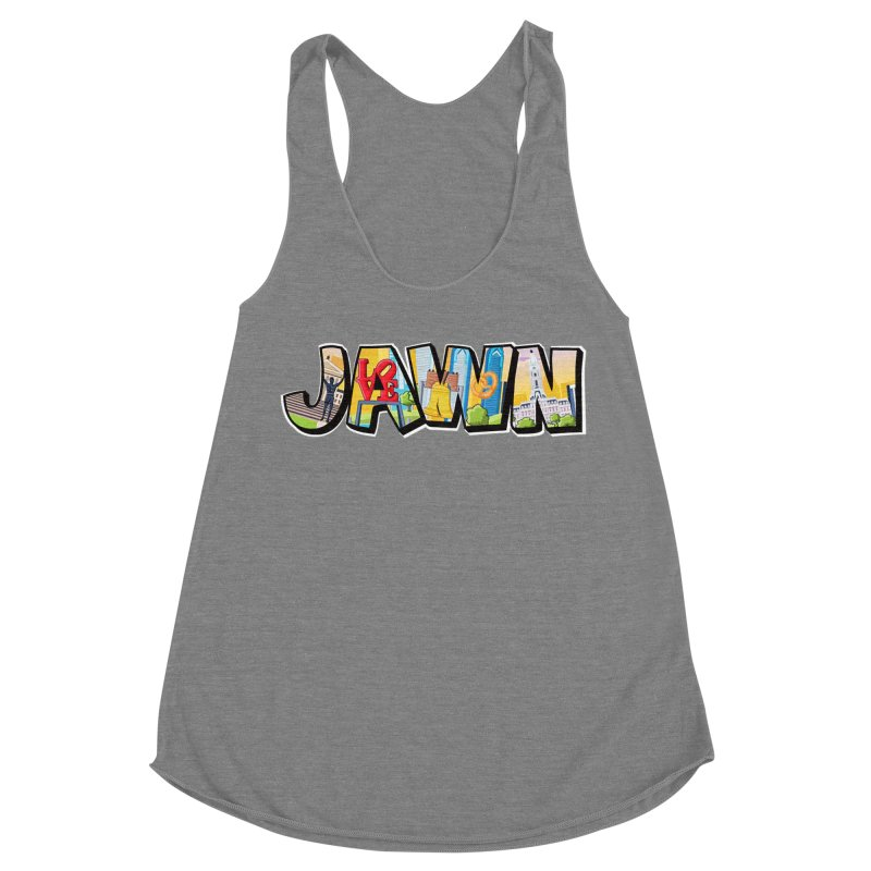JAWN Women's Racerback Triblend Tank by TwistedPhillyPodcast's Shop