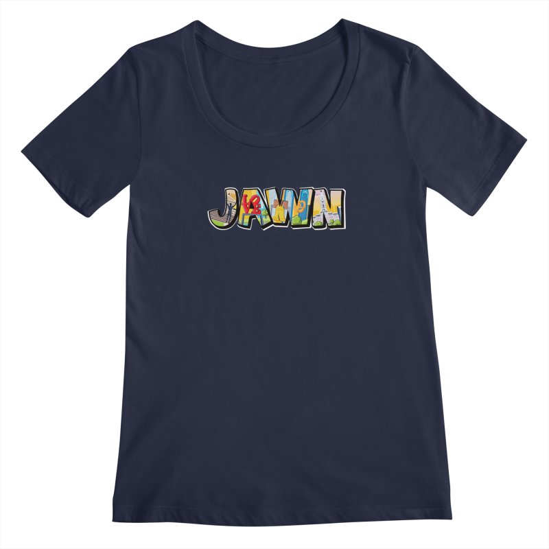 JAWN Women's Regular Scoop Neck by TwistedPhillyPodcast's Shop