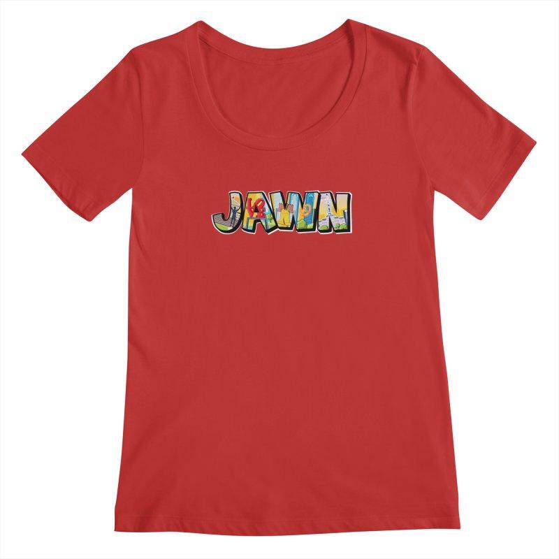 JAWN Women's Regular Scoop Neck by TwistedPhillyPodcast's Shop